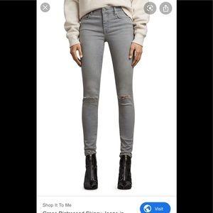 All saint grace distressed skinny jeans